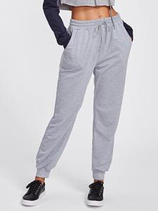 Romwe Workout-Trousers Sweatpants Running-Pants Exercise Jogging Sport Women Drawstring