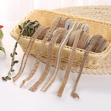 Twine-Rope Ribbon Lace Diy-Craft Jute Hemp Handmade Green-Leaf Christmas Wedding Burlap