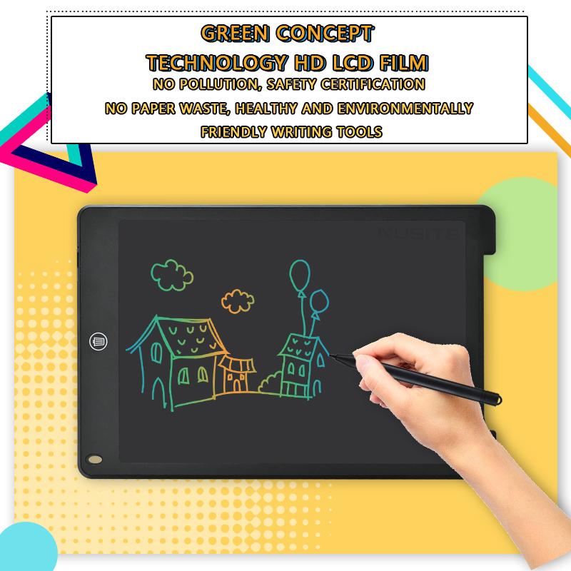12 Inch LCD Writing Tablet Electronic Drawing Doodle Board Digital Colorful Handwriting Pad Gift for Kids and Adult Protect Eyes 4