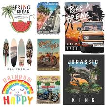 Jeans Decoration Transfer-Stickers Iron-On patch T-Shirt Natural New-Fashion Scenery