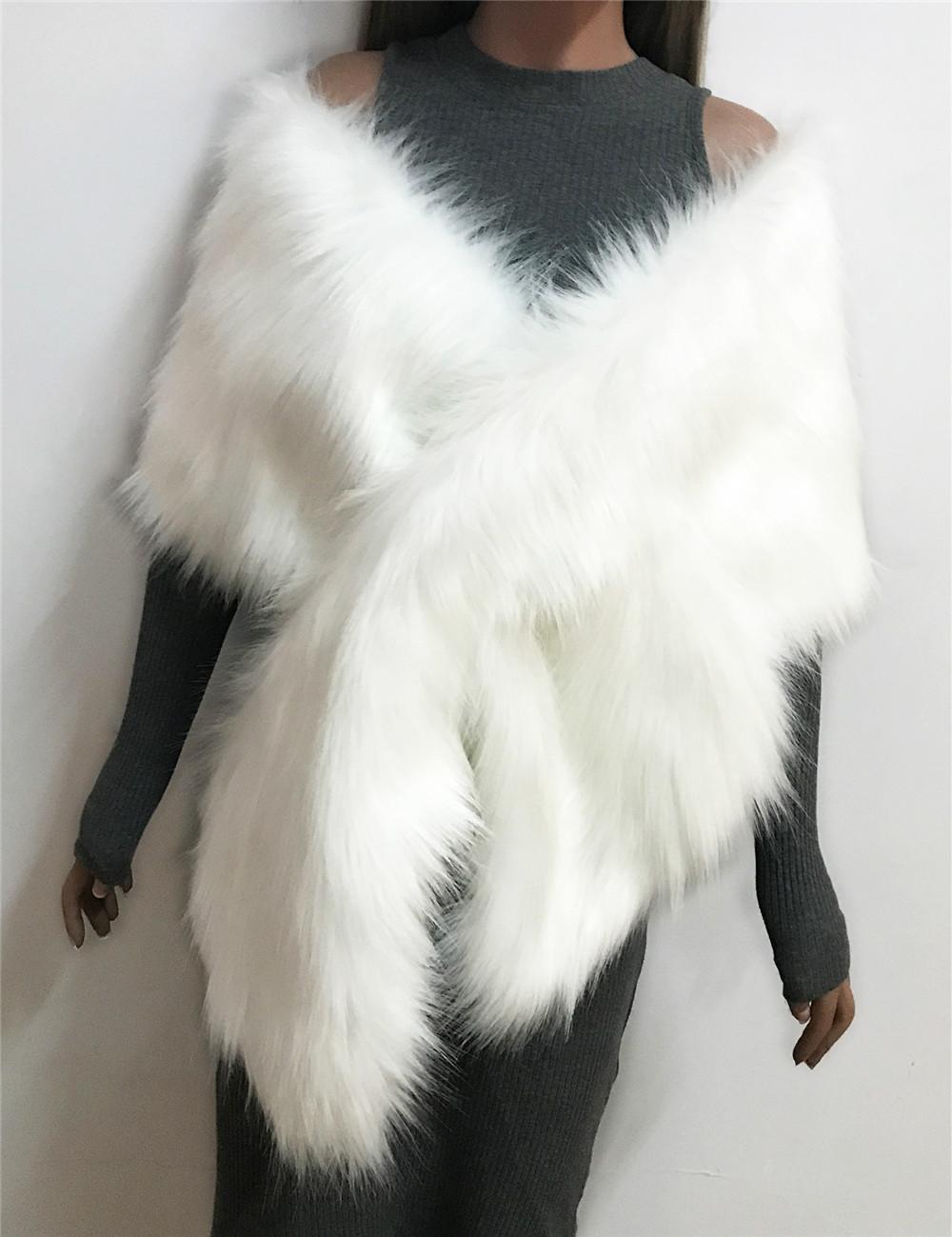 The autumn and winter new imitation fur big cape neck scarf multi-color joker scarf bride dress cross cape (10)