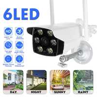 Wide Angle Outdoor IP Camera 1080P ONVIF Security Waterproof IP Camera CCTV 6PCS LED Wifi Camera Wifi security camera