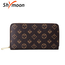 luxury brand women long wallet and clutch purse handbags for male Famous brand designer wallet for men zipper wallet phone bag(Китай)