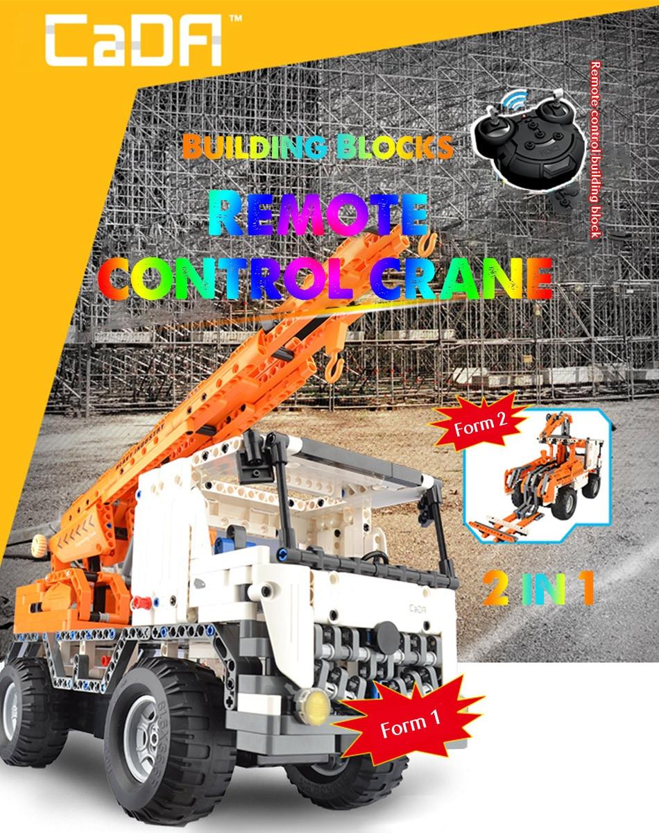 CaDA C51013 Mobile Crane RC Building Block 15