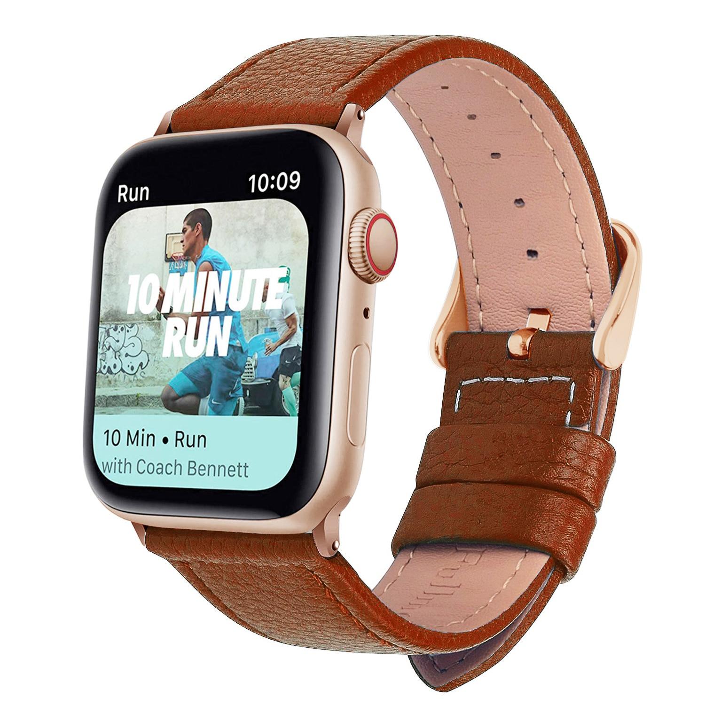 Eastar кожаный ремешок для часов, 3 цвета, для Apple Watch 5/3/2/1, спортивный браслет 42 мм 38 мм, ремешок для iwatch 4