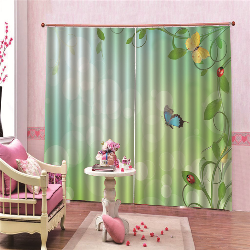 Butterfly Window Treatments 3d Curtains Kitchen Door For Bedroom Home Decoration Window Blinds For Living Room Accessoires Bath