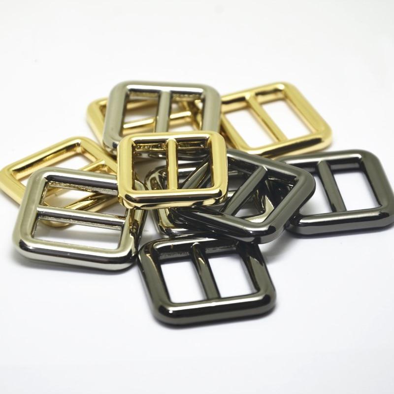 Metal Slider Buckle 1/'/' Gun Black Round Adjuster Buckle Strap Slider Buckle Belt Adjustable Slide Buckle bag Buckle Webbing Connecter