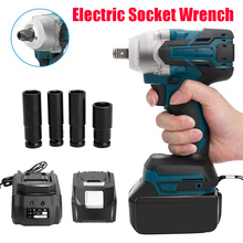 18V Cordless Impact Wrench Brushless Electric Wrench 520Nm Torque Rechargeable For Makita