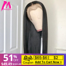 Wigs Lace-Frontal Human-Hair Remy-Short Pre-Plucked Straight Natural Black Women 30inch-Long