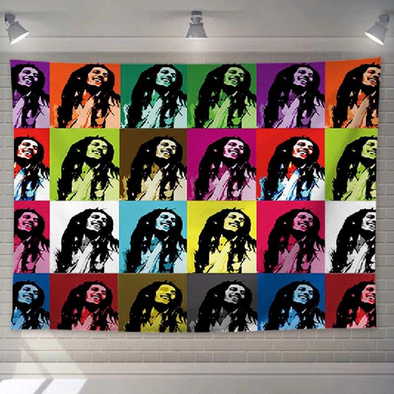 Tenture Rastafari avec Bob Marley | Rasta-Lion