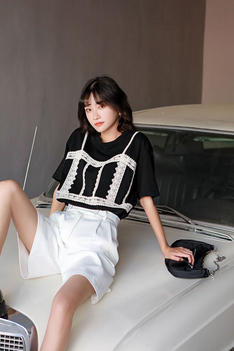H587631e555f342c5a24e9e0c277c1d84T - Summer Korean High Waist Loose White Shorts