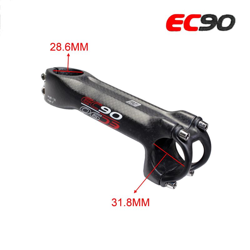 EC90 Full Carbon Fiber Bicycle Stem Carbon Bike Handle Stem 28.6 To 31.8mm