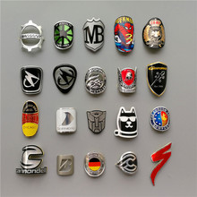 Stickers Badge Decals Bike-Head Bicycle Electric-Scooter Aluminum-Alloy Folding FOR BMX