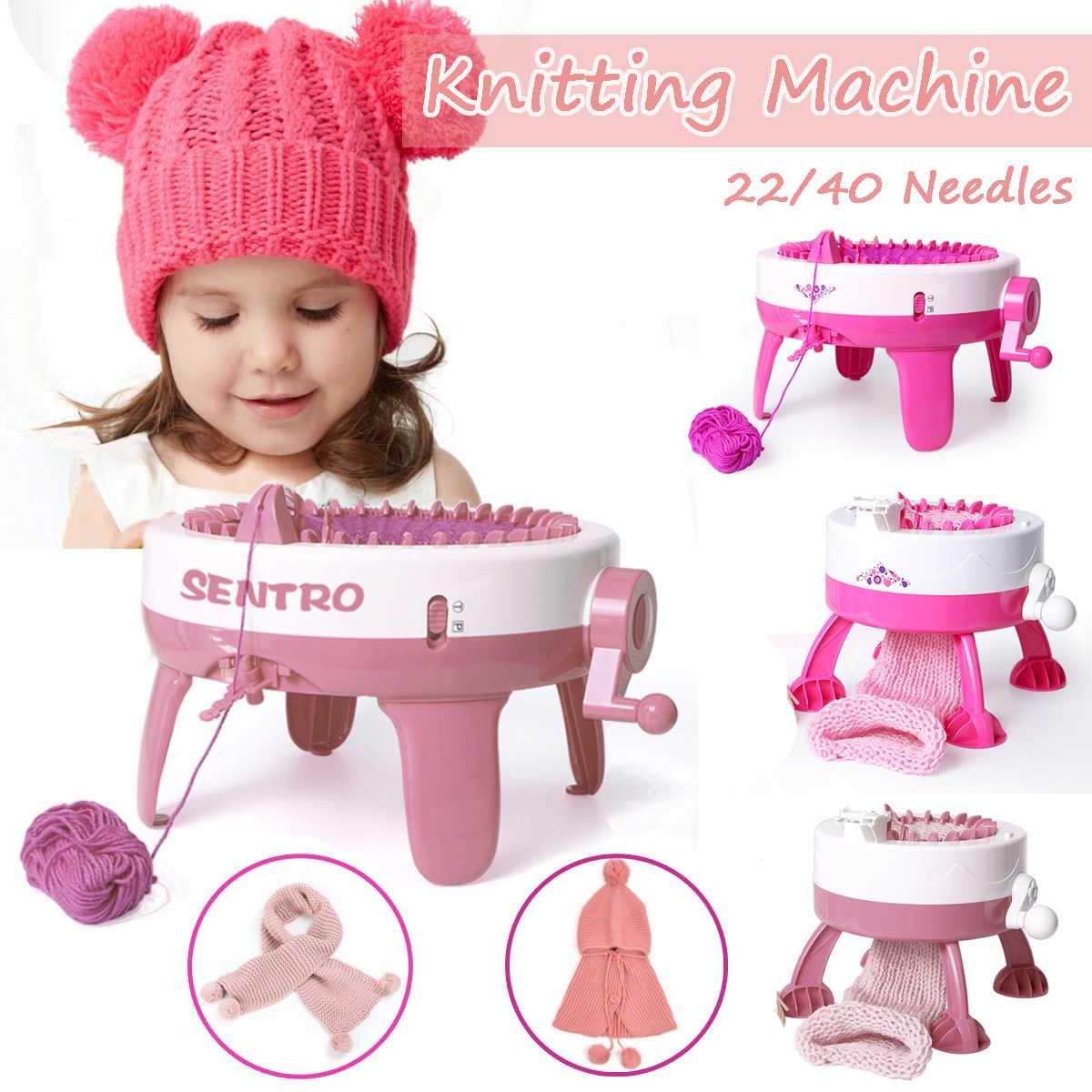 Kids Knitting Machine Mini Children Weaving Loom Knit For Hats Scarves Socks Toy