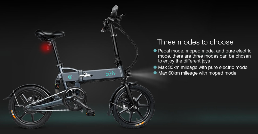 16 Inch Fiido D2 Adult Electric Bicycle 2 Wheels Electric Bicycle Mini 250W Folding Portable Electric Bike (6)