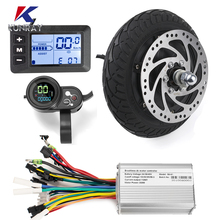 Electric Scooter Hub-Motor Wheel-Kits Conversion Brushless 500W 48v 350w 36V 8inch Dis-Brake
