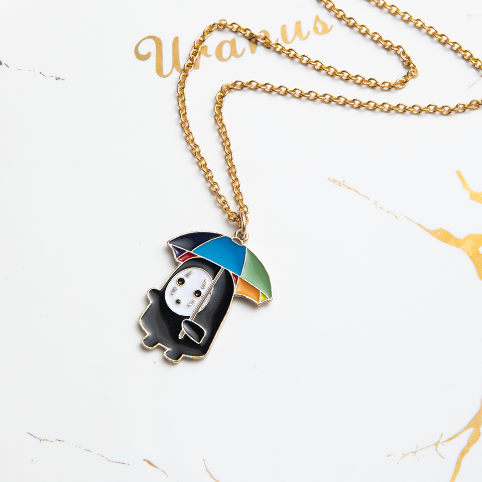 Anime Character Cartoon Necklaces Women Girl Children Christmas Deer Stocking Santa Claus Planet Moon Star Necklace&Pendant Gift (18)