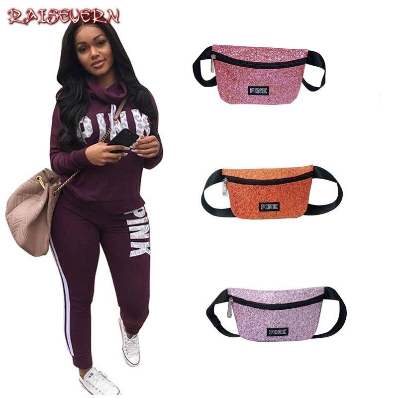 RAISEVERN 2019 Pink Letters Print Autumn Tracksuit Women Casual Outfits Two Piece Set Pants Suits Plus Size Clothing Sets XXXL