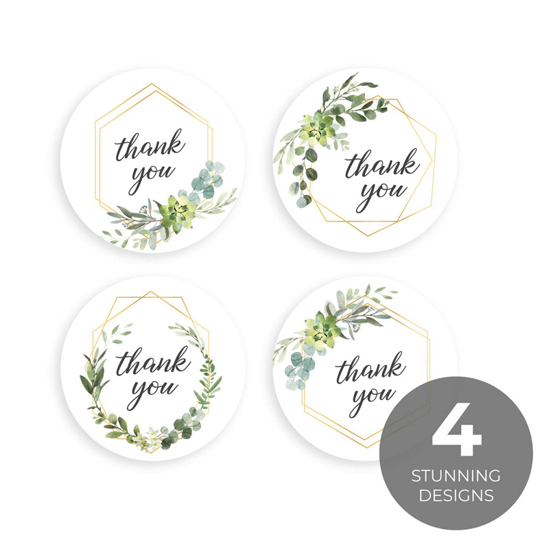 100-500pcs Labels Roll Flower Thank You Stickers Scrapbooking For Gift Decoration Stationery Sticker Seal Label Handmade Sticker