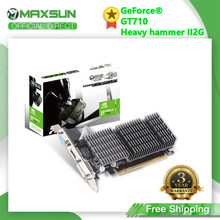 MAXSUN Full New NVIDIA GT710 2GB GDDR3 64bit schede grafiche PCI PCIE2.0 × 8 Ready DVI + VGA PC giochi per Computer scheda Video