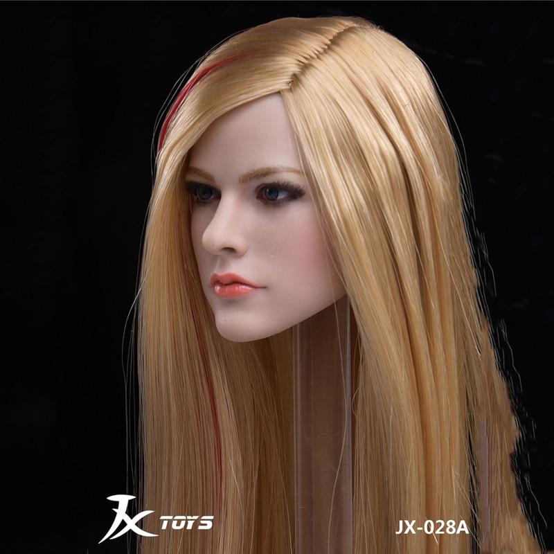 JXTOYS-028  1//6 Avril Head Model Straight Hair Female Head Carving F 12/'/' Body