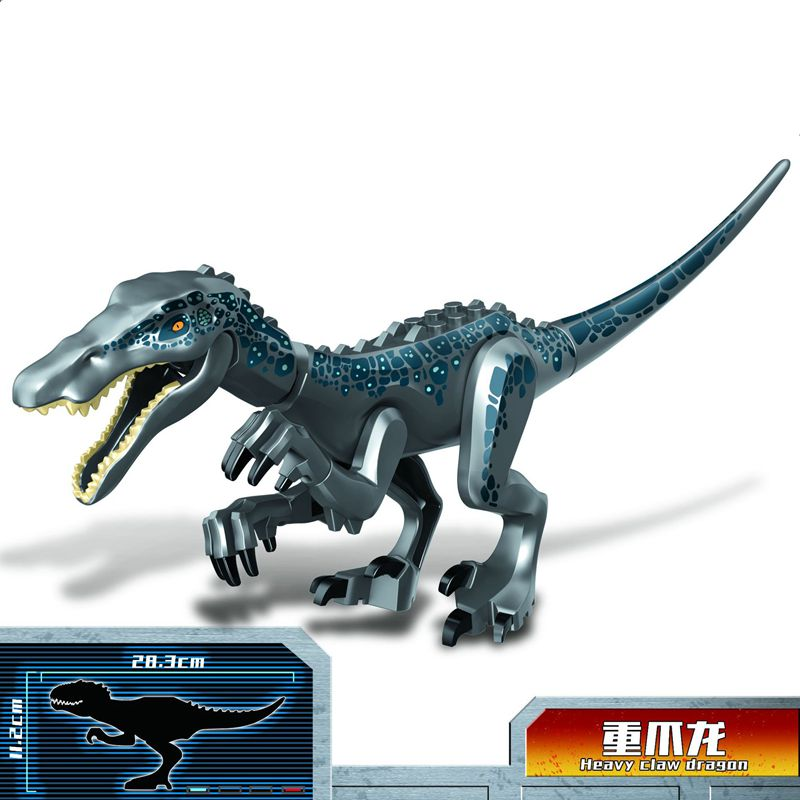 Single Big Size Legoing Dinosaur Jurassic World Blocks Heavy Claw Dragon Animal Toys Model Compatible Legoing Figurine Kids Gift