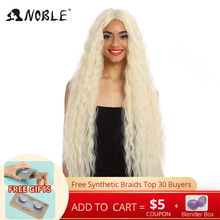 Noble Blonde Wig Hair Lace-Front Long-Curly 42inch-613 Synthetic Ombre American