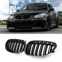 A Pair Gloss Black Car Front Sport Kidney Grilles Grill For BMW 5 Series M5 E60/E61 525i 528i 528xi 530i 2003-2010 Car Styling