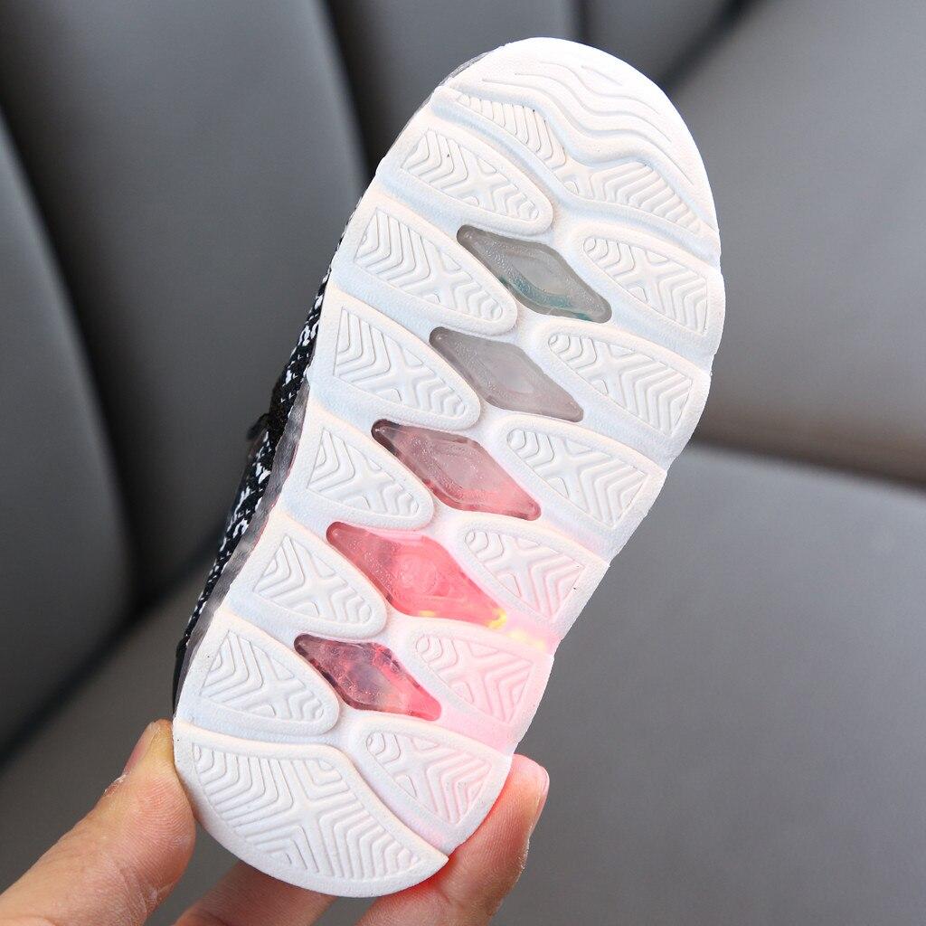 Diaper - Children's Luminous Shoes Infant Toddler Baby Girls Boys Breathable Mesh Cute Cartoon LED Luminous Sport Shoes Sneakers 6M-4Y