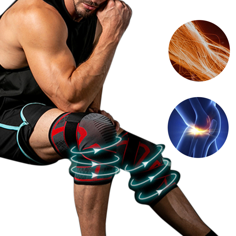 Human - Dual-use Pressurized Knee Brace-Support Fitness; Running Sports Knee Protector