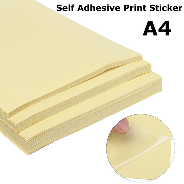 50pcs Transparent Blank Label Sticker Matte Adhesive Printer Paper A4 Self Adhesive Glossy Paper for Laser Printers
