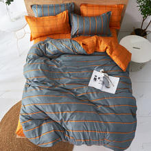 Pillowcase Comforter Bedding-Sets Duvet-Cover-Set Bed-Sheet Queen Stripes Full-King Twin