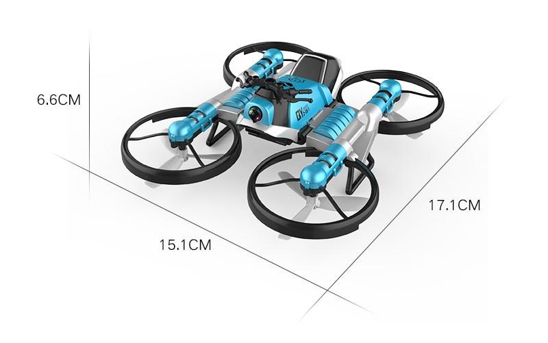 Drone moto quadricoptère pliant avec caméra HD