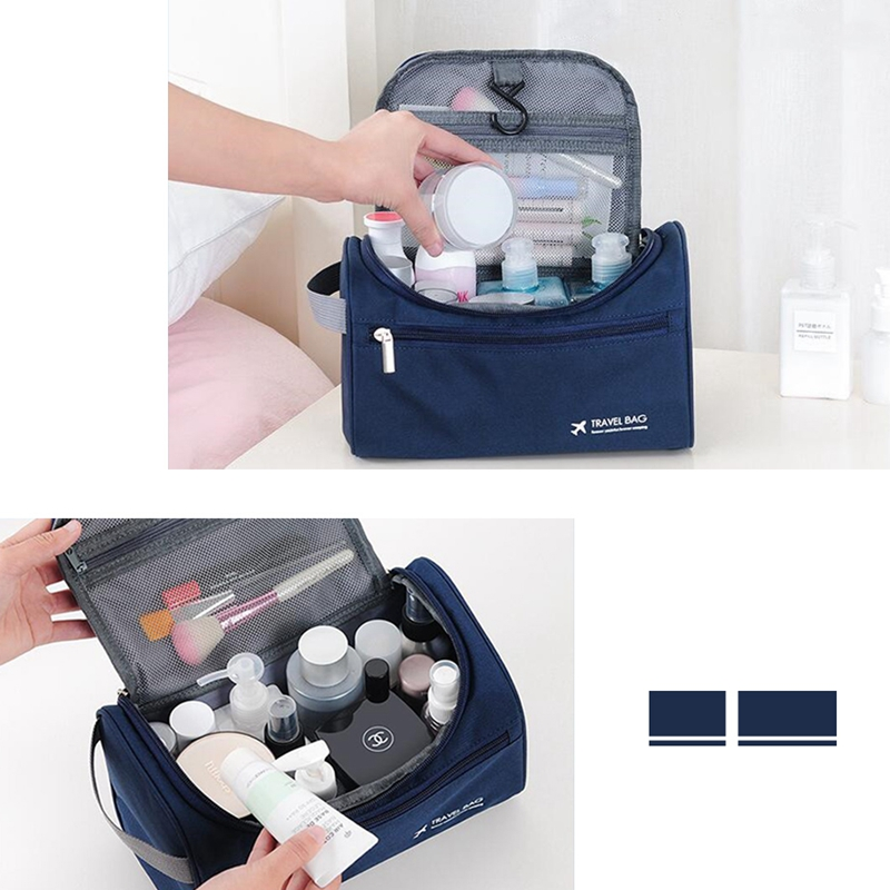 Unisex Hanging Cosmetic Bag Portable Multifunction Travel Organizer Toiletry Wash Make up Storage Pouch Beautician Folding