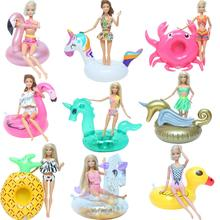 Swimsuit House-Toy Bikini Barbie-Doll-Accessories Swimming-Pool Beach-Ring Baby Fashion