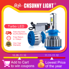 CNSUNNYLIGHT Car-Headlight Headlamp 9012 H4 Led H3 HB4/9006 7000lm H1 Auto-Bulb H8/H11
