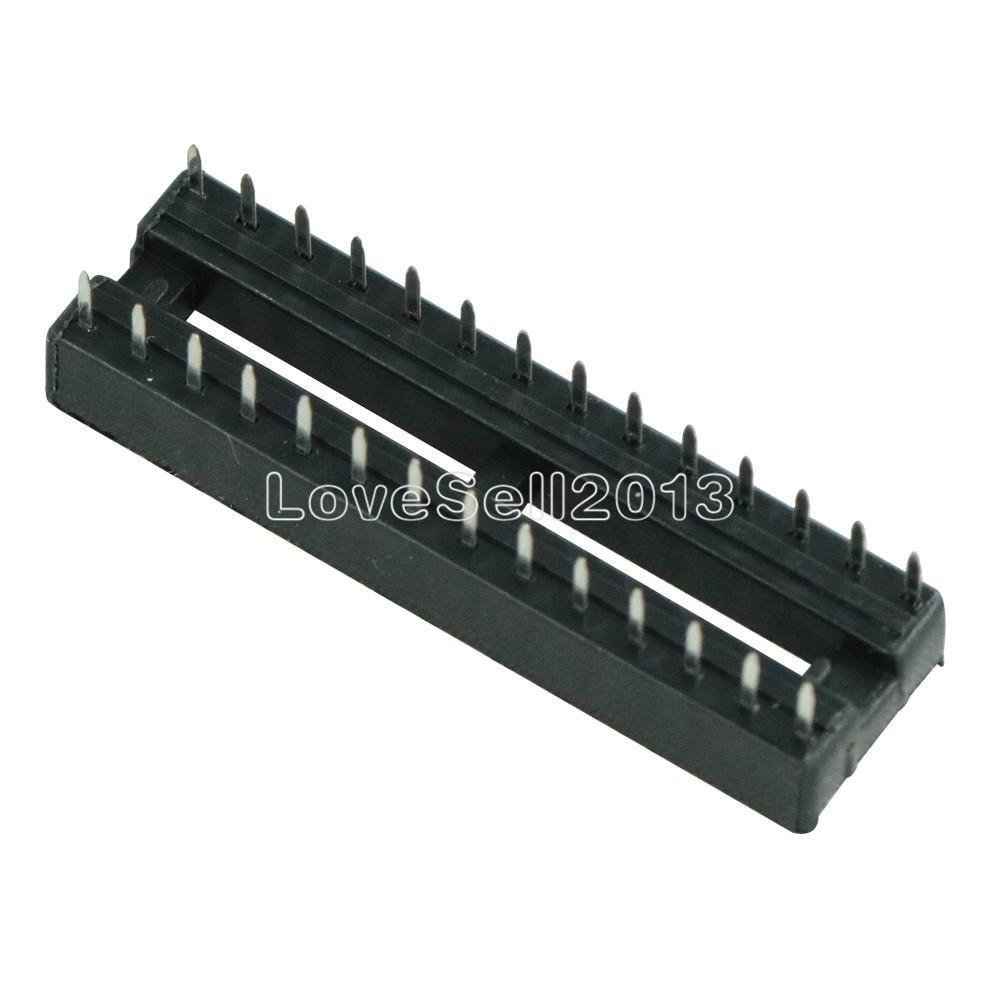 10PCS 28-Pin Narrow DIP IC Steckdosen Adaptor Solder Socket 2.54mm AIP