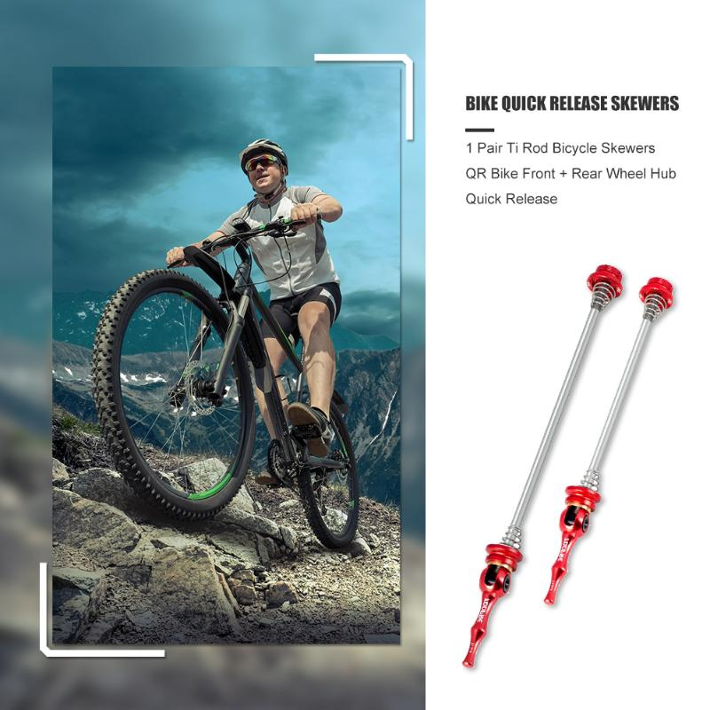 Cycling Skewer Front  Rear MTB Mountain Bicycle Set Repairing Bike Wheel Axle