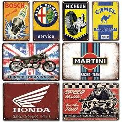Жестяная Табличка с надписью Martini, винтажный металлический постер для обслуживания гаража, декоративные пластины в ретро стиле, для гаражно...