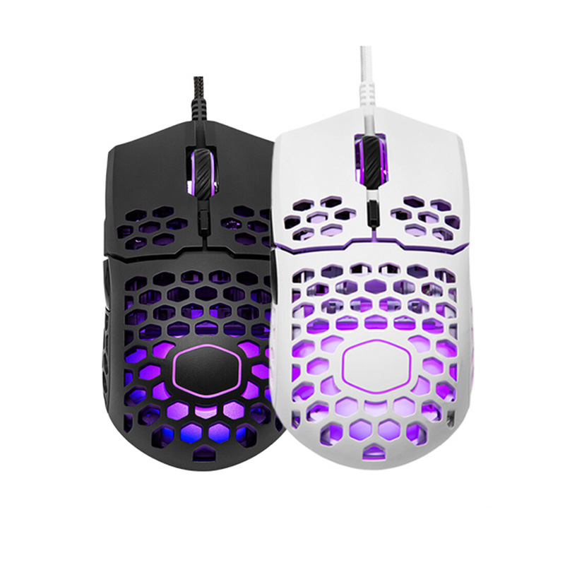 Gaming Mouse Cooler Master Lightweight Ultraweave-Cable 16000 Dpi MM711 Pixart 3389  title=