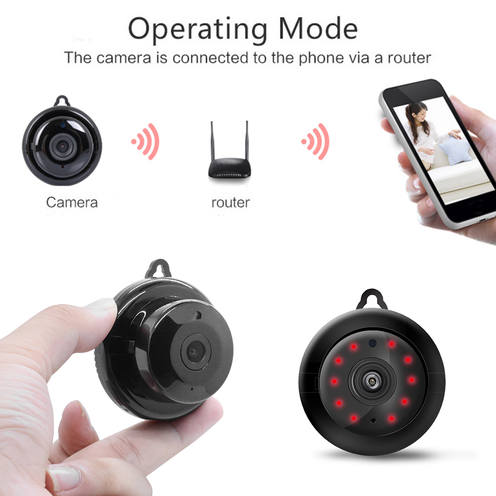 Phone - Wifi IP Camera HD 1080P Wireless Indoor Camera Night Vision Two Way Detection Baby Monitor V380 Audio Home Security with Stand