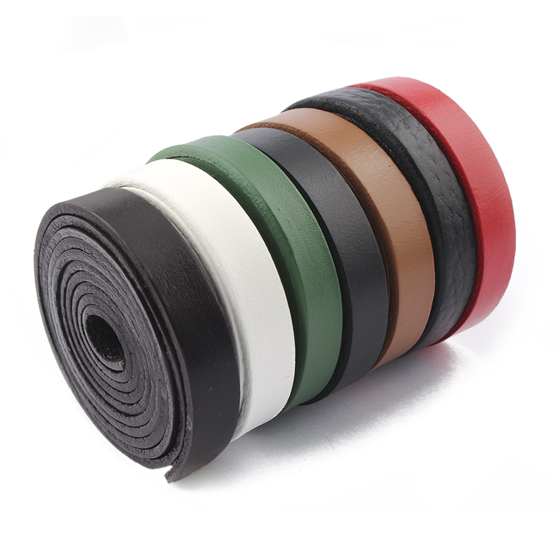 2meters Red/Black/Brown/White/Green 10x2mm Genuine Flat Leather Cord Rope For Leather Bracelet Neckalce Jewelry Findings Making