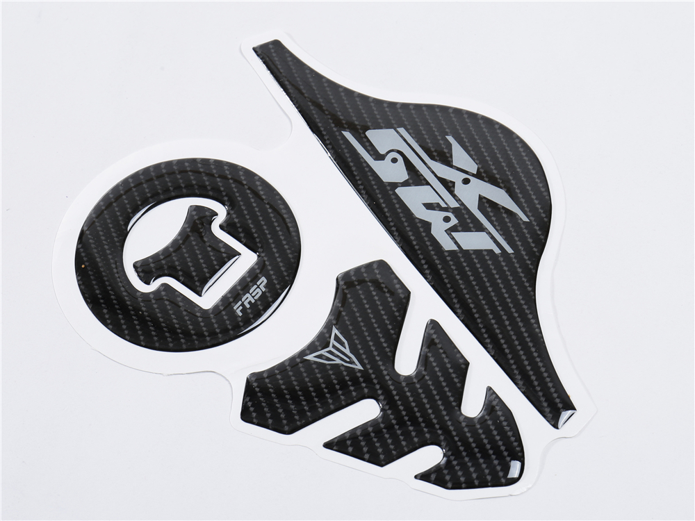 De Combustible de Fibra de Carbono tap/ón del dep/ósito Protector de la Almohadilla de dep/ósito de la Etiqueta engomada 3D for KTM Duke 390 200 790 13-14