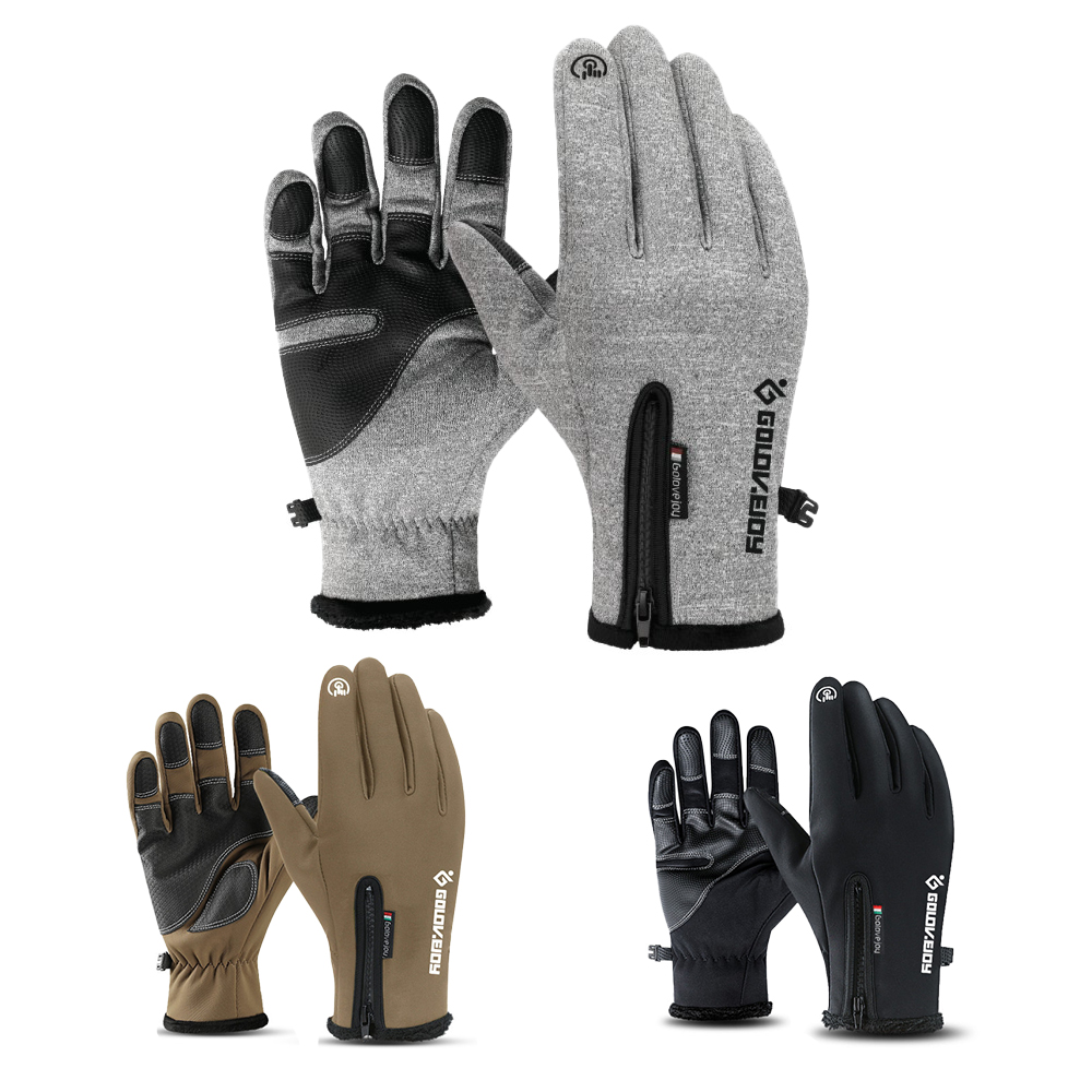 Men/'s Winter Gloves Cycling Touch Screen Thermal Windproof Full Finger Gloves
