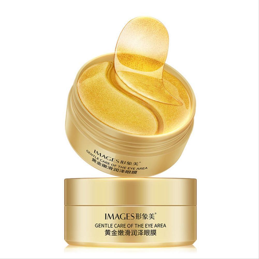 Label - 60pcs Gold/Seaweed/Black Pearl Collagen Eye Mask Face Anti Wrinkle Gel Sleep Mask Eye Patches Moisturizing Eye Mask Eye Care