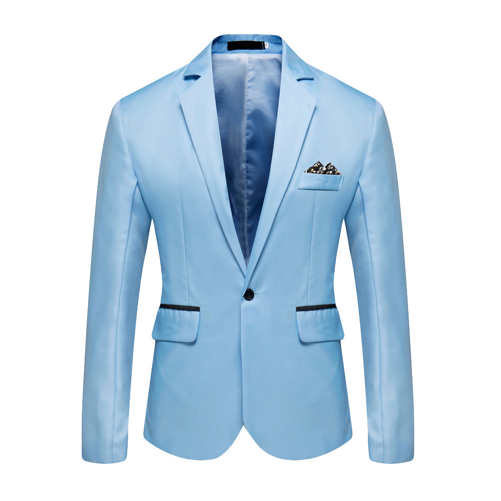 Blazer Suit Stylish Coat Business Wedding-Party Mens Casual New Fashion Outwear Tops title=
