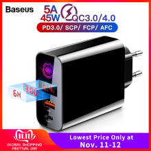 Baseus Usb-Charger Mobile-Phone QC3.0 Type-C Huawei Samsung Pro-Max for 11 PD