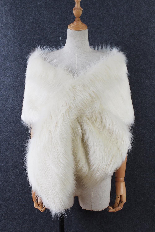 The autumn and winter new imitation fur big cape neck scarf multi-color joker scarf bride dress cross cape (16)