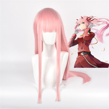 Cosplay Wig DARLING Anime ZERO Pink-Color 02 Two-Long FRANXX The