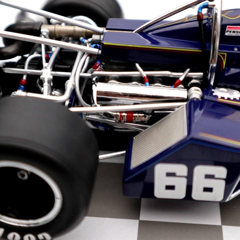 Replicarz 1//18 1972 Winner Indianapolis 500 Mark Donohue #66 R184827 Diecast